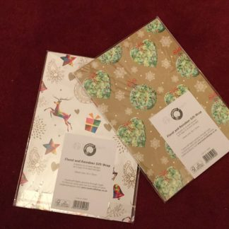 Gift wrapping, printed and hand-made paper, plus extras